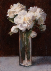 "Wedding Flowers--Oil on board--5"" x 7"""